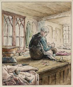 The Tailor of Gloucester at Work circa 1902 by Helen Beatrix Potter 1866-1943